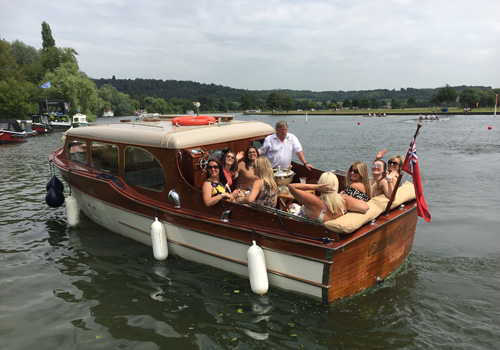 Royal Henley Regatta by boat