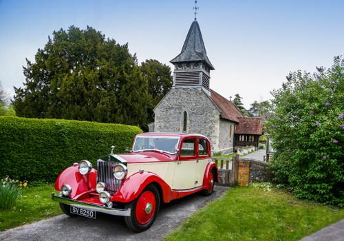 Red Rolls Royce Church