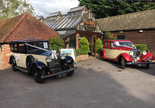 The 1933 and 1930 Rolls Royces Dressed for a Wedding