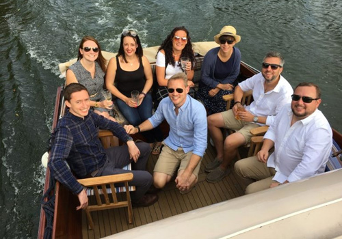 Corporate - Staff on Boat