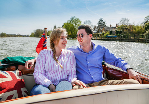 Romance on the river - boat for two