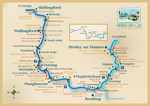 Map of Thames River