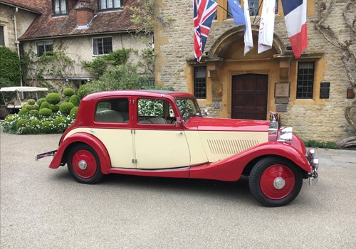 Pre-war Rolls Royce hotel pick up