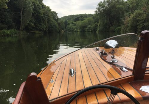 Enjoy stunning views of the river across Nina's bow
